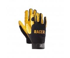 Pirštinės RS RACER kombinuotos iš kiaulės odos ir tekstilės