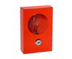 Dėžutė raktui raudonos spalvos (metalinė)