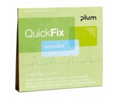 Elastiniai pleistrai aptinkami detektoriumi PLUM QUICKFIX 5513 (6 pak. x 45 vnt.)