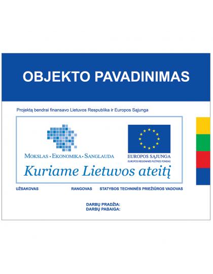 Europos Sąjungos paramos informaciniai stendai