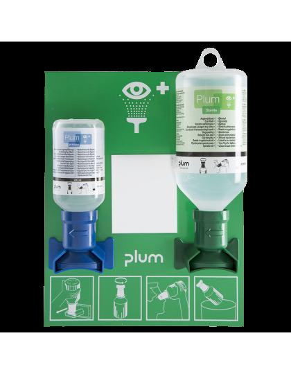 """Laikiklis akių skalavimo skysčiui PLUM 4773 su 1x200 ml """"pH Neutral"""" tirpalu ir 1x500 ml """"Plum Eye Wash"""" tirpalu"""