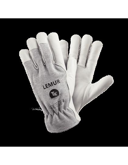 Pirštinės LEMUR, ožkos odos delnu kombinuotos su medvilne
