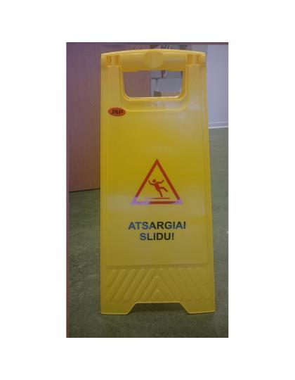 """Stovas-ženklas """"Atsargiai slidu"""",  300X700 mm"""