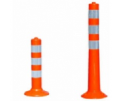 Stulpelis lankstus oranžinis 750 mm, su atšvaitinėmis juostomis