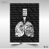 Plakatas apie rūkymo žalą